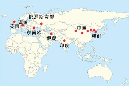 中国地图长城手绘
